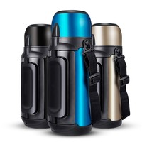 Large capacity stainless steel thermos outdoor travel sports personality hot water cup portable insulation vacuum cup 1.5L / 2L