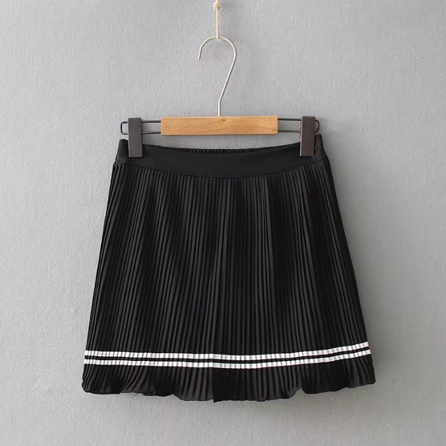 Western Style Summer Wear New Style Shirred Casual Versatile Chiffon Anti-Exposure A- Line Pleated Short Skirt Pants Short Skirt