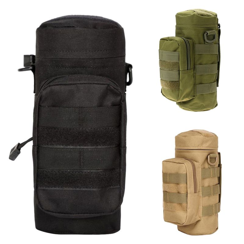 Tactical Molle Water Bottle Pouch Upgraded Travel Water Bottle Holder Bag For Outdoor Camping Hiking Fishing