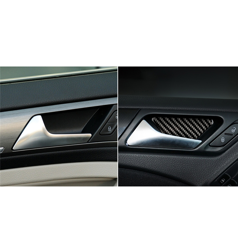 For VW Golf 6 Gti R MK6 2008-2012 Vehicle Interior Car Door bowl Cover Trim Decals Car Styling Carbon Fiber Stickers image