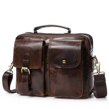 Top-handle Bag Handbag Genuine Leather Briefcase