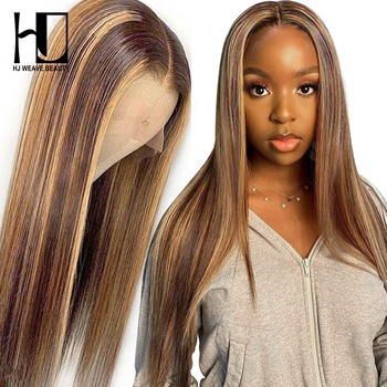 Цветной парики из натуральных волос для Для женщин Выделите Синтетические волосы на кружеве парики из натуральных волос на кружевной Мёд н...
