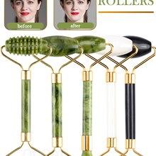 Massager For Face Jade Roller Set Green Facial Natural Gouache Scraper Body Back Beauty