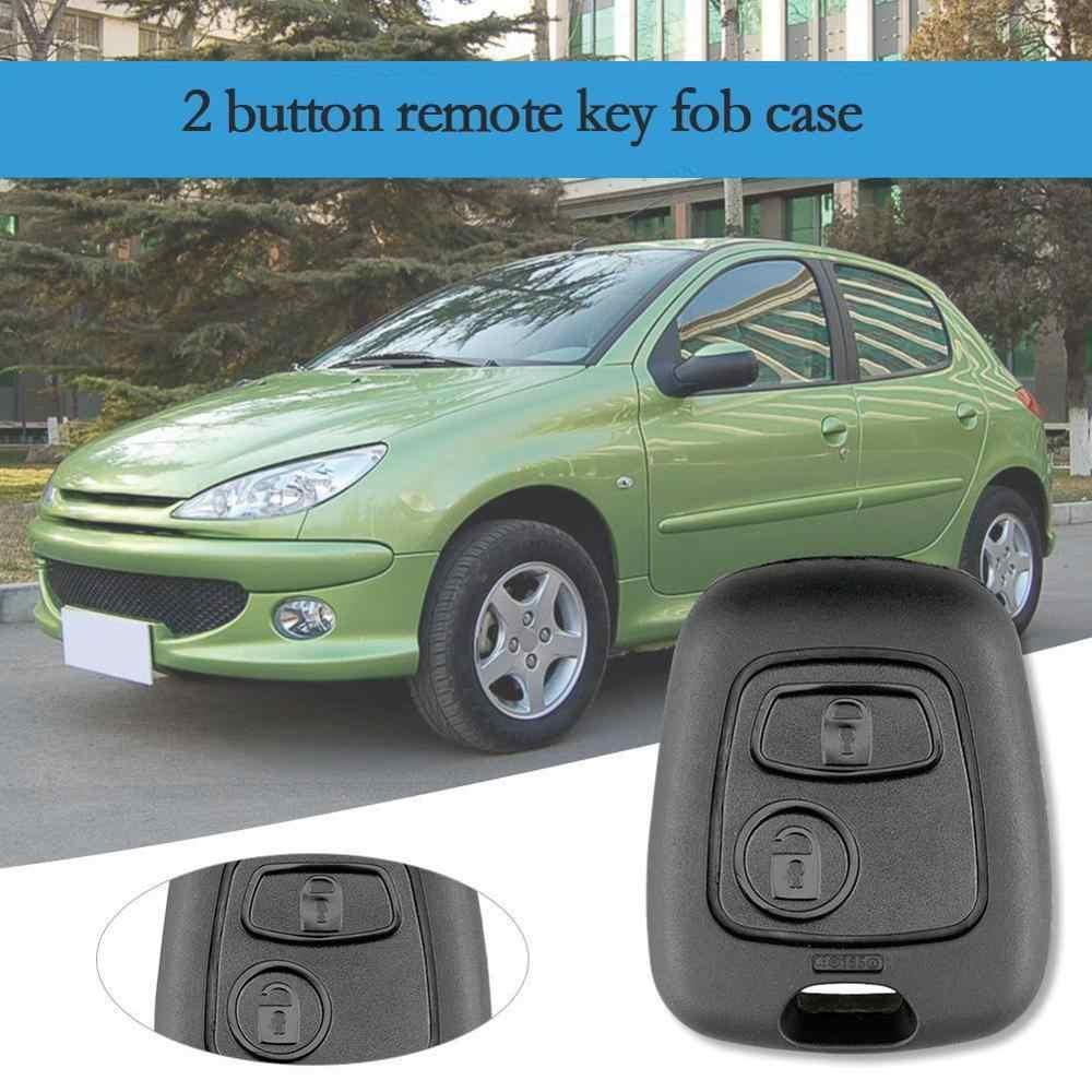 2 кнопки дистанционного ключа автомобиля брелок чехол Замена оболочки крышка для Citroen C1 C2 C3 C4 XSARA Picasso для peugeot 307 107 207 407