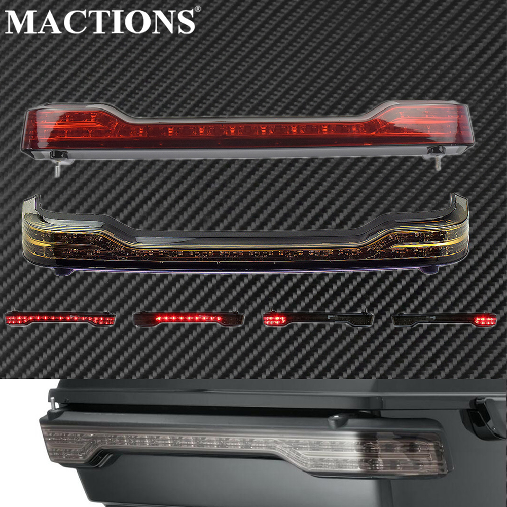 Motorcycle Rear Tour-Pak LED Brake/Running /Turn/Tail Lamp Light Kit For Harley Touring Electra Glide Ultra Classic FLTRU 14-19
