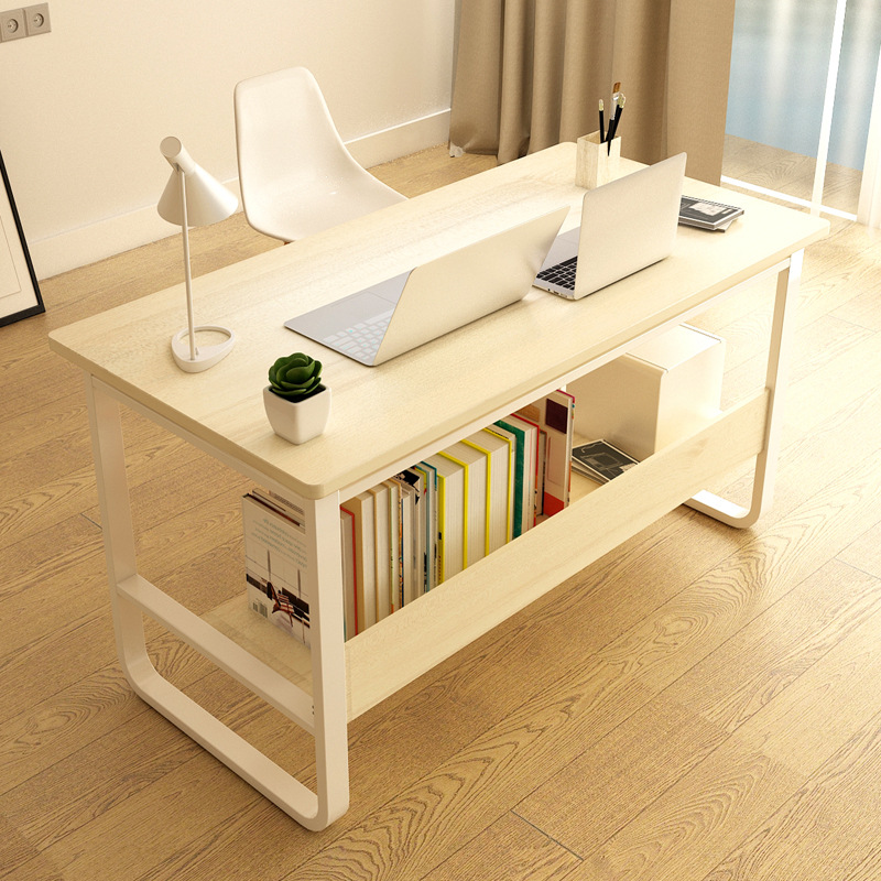 Manufacturers Direct Selling Wood Desktop Computer Desk Household Minimalist Modern Students Bedroom Bookshelf Simple Table