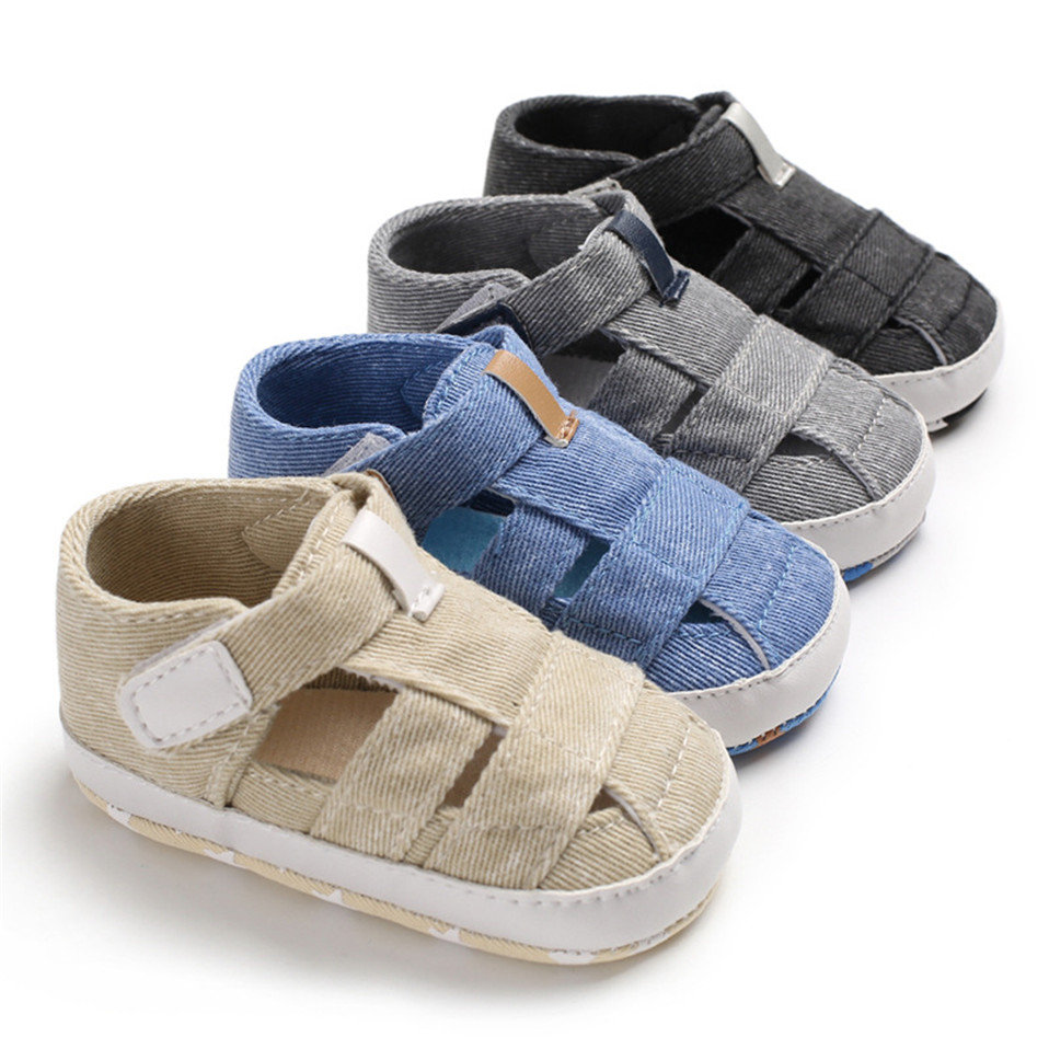Spring Newborn Baby Boys Girl Color Casual Plaid Denim Soft Bottom  Infant Shoes