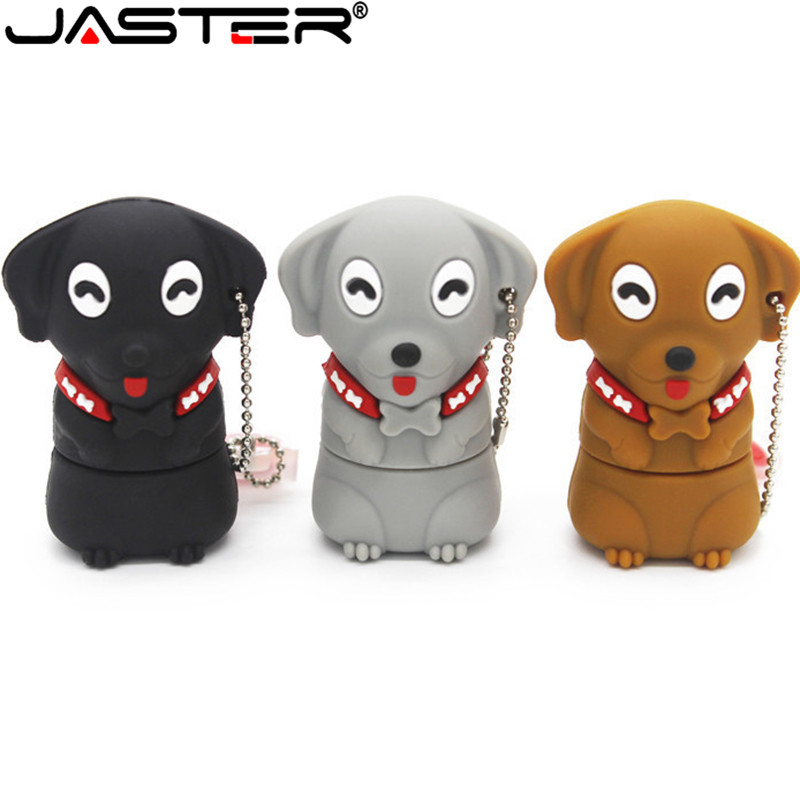 JASTER Cartoon Dog USB Flash Drive USB 2.0 Pen Drive Minions Memory Stick Pendrive 4GB 8GB 16GB 32GB Gift