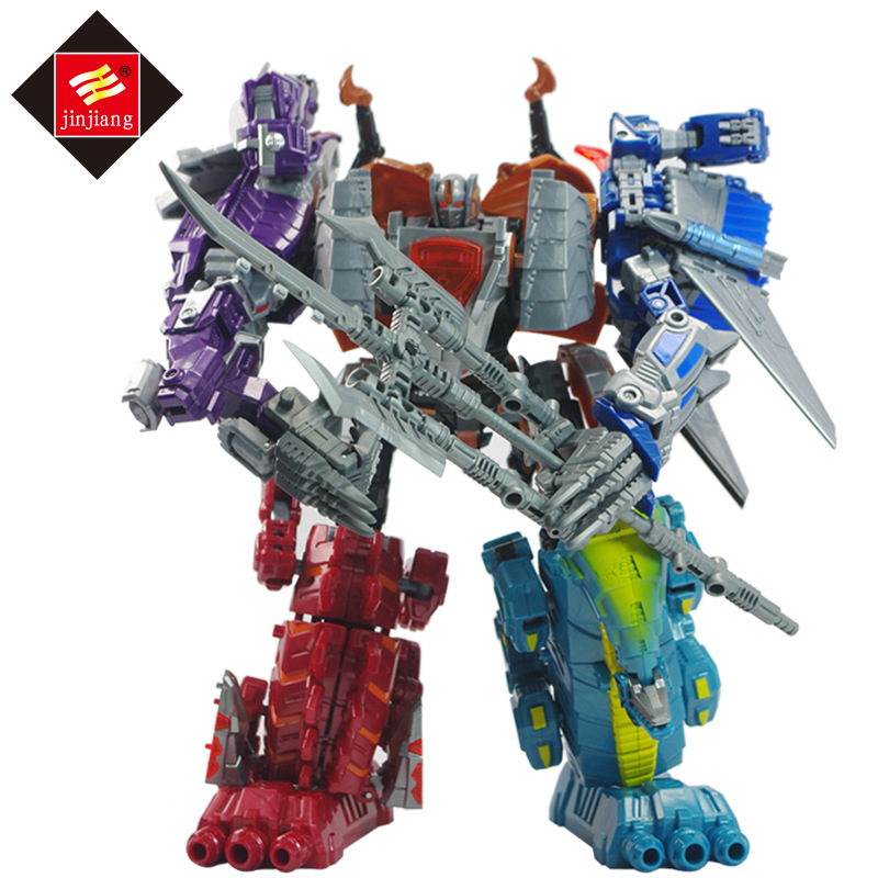 Transformation Robot Dinosaur Toys Car-Model Action-Figure Children Gifts 5-In-1set 32CM