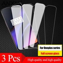 Cristal templado completo para Oneplus 3T 5 5T 6 6T 7 7T, Protector de pantalla de vidrio templado para Oneplus one plus 7 7T 6 6t 3T 3 5 5T
