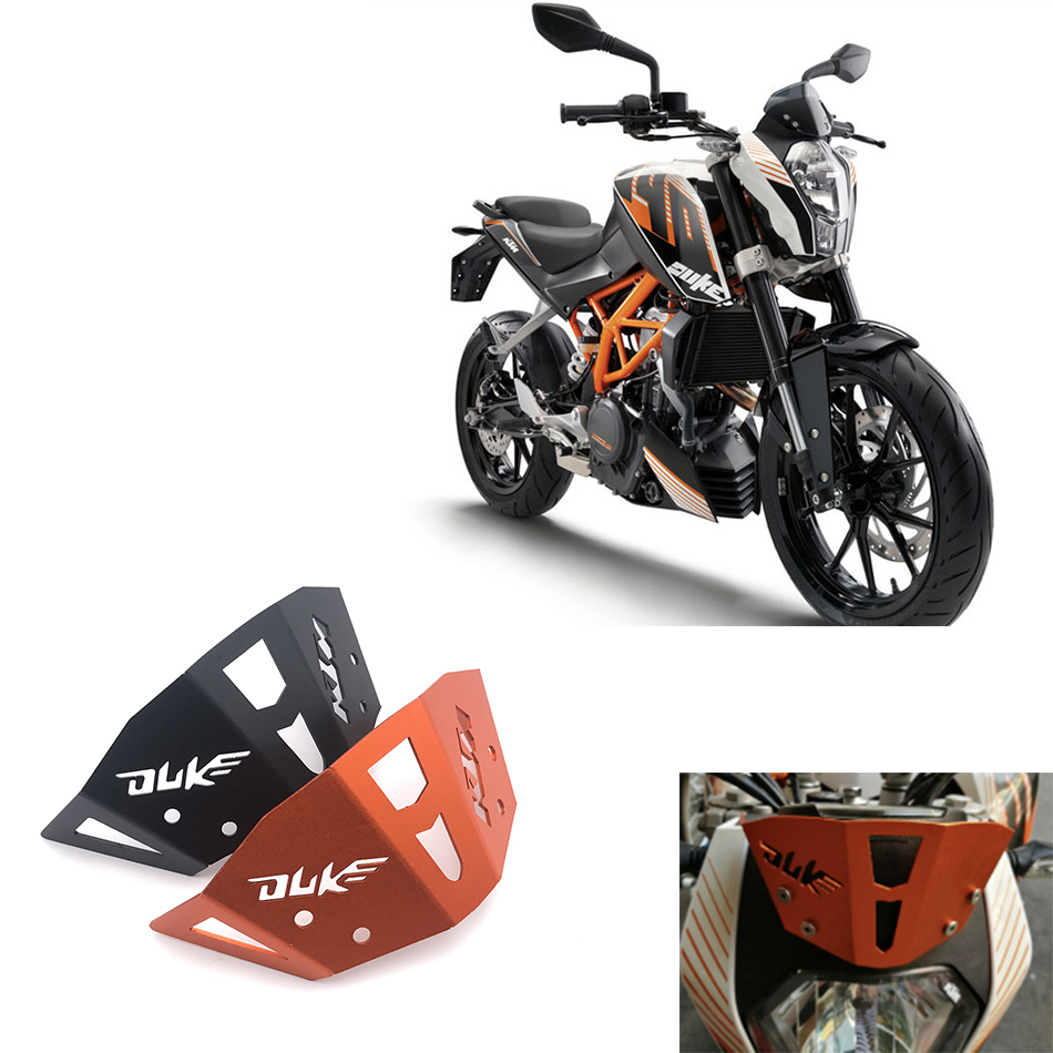 Orange CNC aluminum alloy motorcycle accessories windshield deflector For KTM DUKE 125 200 2012-2017 DUKE 390 2013-2017 DUKE 250 image