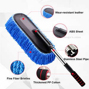 Image 3 - Chenille Car Wash Mop Duster Wipe Fiber Car Brush Car Wash Cleaning Retractable Models