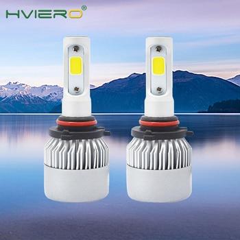 цена на 2X S2 9005 HB3 Cob All in One Headlight Ip65 WaterProof Auto Bright Bulb Single Beam 72W 8000LM 6500K Automobile Headlamp White