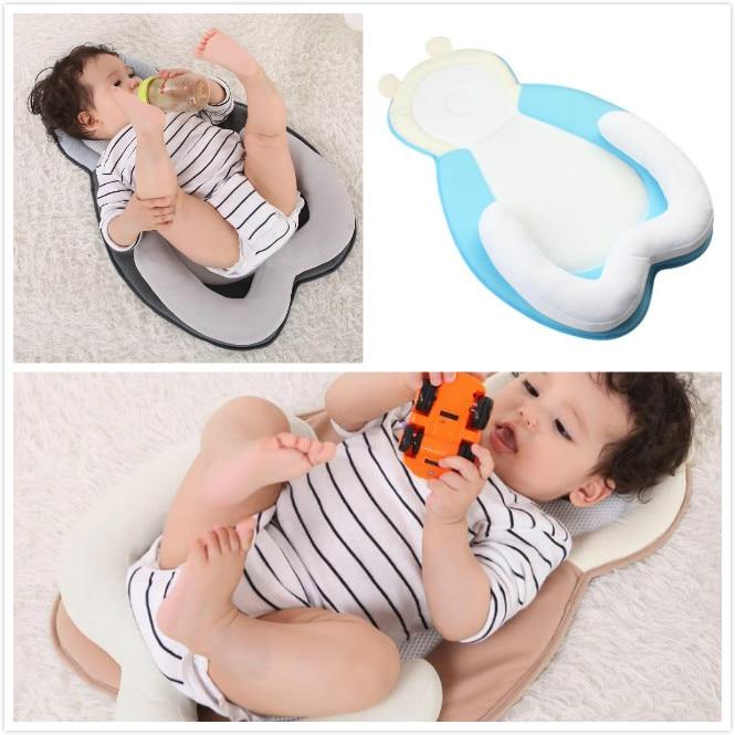 Baby Pillow Newborn Anti-rollover Cushion Infant Flat Head Pillow Mattress 0-12 Months Baby Sleep Positioner Head Shape Pillow