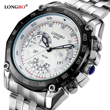 2020 LONGBO Men Watch army military fashion sport luxury Japan movement waterproof steel quartz watch 80102 relogio masculino