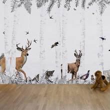 Personnalisez le papier peint amadeirado chesnut selva animais floresta papel de parede pw200215001