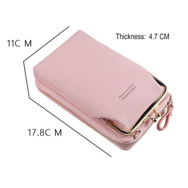 HOT Fashion Small Crossbody Bags Women Mini Matte Leather Shoulder Messenger Bag Clutch Bolsas Ladies Phone bag Purse Handbag 3