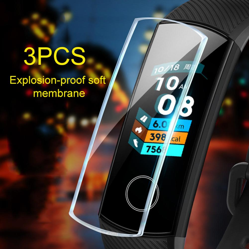 3Pcs TPU Explosion-Proof HD Soft Full Protective Film For Huawei Honor Band 5