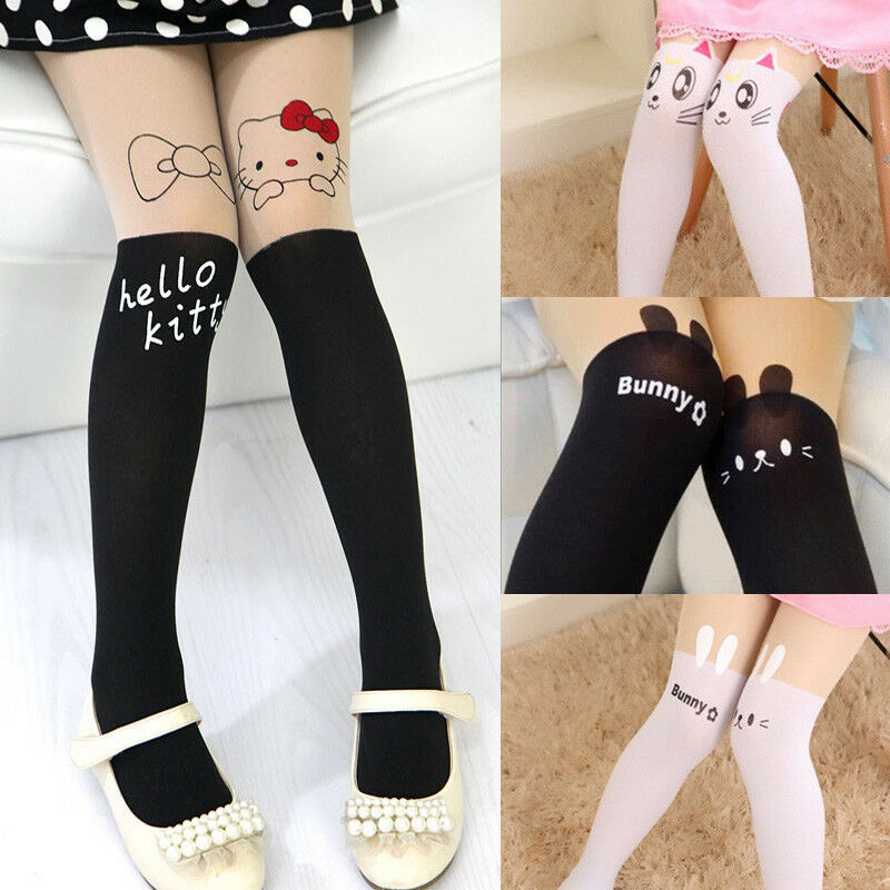 Baby Kids Girls Cat Tights Stockings Pants Hosiery Pantyhose Stretch Skinny Pants Kids Dance Pantyhose Stocking 6-10Y