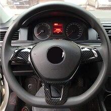 Foal Burning Car Steering Wheel Cover Trim Sticker Fit for Volkswagen VW Golf 7 GTI MK7 POLO 2014 2015 Jetta MK6 2015 2016