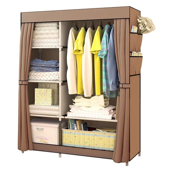 Bedroom Multipurpose Non woven Cloth Wardrobe Folding Portable Clothing Storage Cabinet Dustproof Cloth Closet Home Furniture
