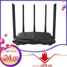 Tenda AC7 Draadloze Wifi Routers 11AC 2.4Ghz/5.0Ghz Wi fi Repeater 1 * Wan + 3 * Lan poorten 5 * 6dbi High Gain Antennes Smart App Beheren