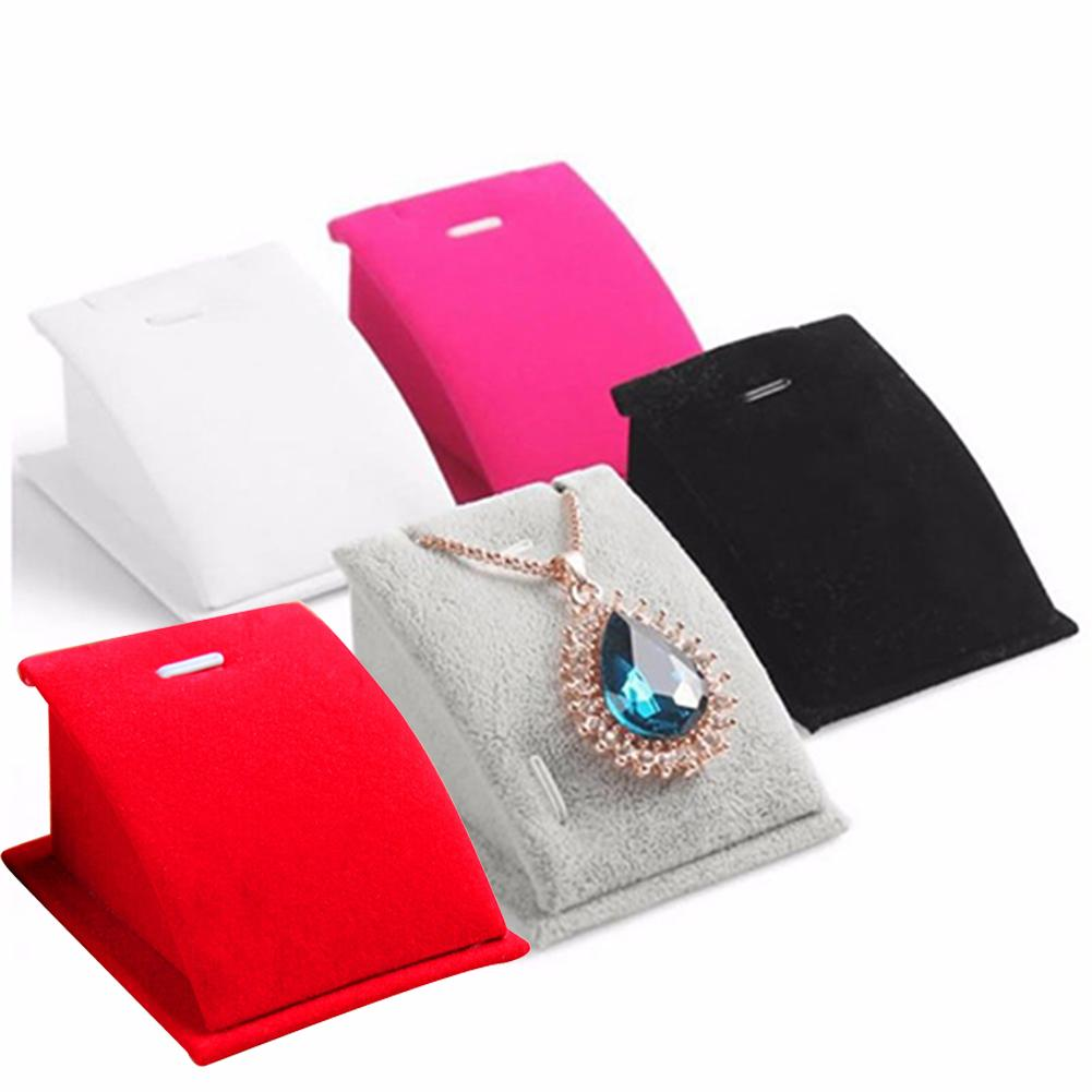 Fashion Jewelry Box Velvet Holder Necklace Pendant Chain Jewelry Display Stand Show Rack Jewelry Stand Pendant Necklace Display