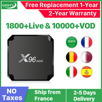 X96 Mini Arabic France IPTV 1 Year Subscription Android 7.1 IPTV QHDTV IP TV Netherlands Belgium Italy French Arabic IPTV Code