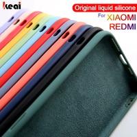 Líquido Original de silicona para Xiaomi mi 10 Pro 9 SE A3 Poco X3 M3 F1 Nota 10 Lite funda protectora Redmi Nota 9 6 7 8 9 S F2 Pro cubierta carcasa