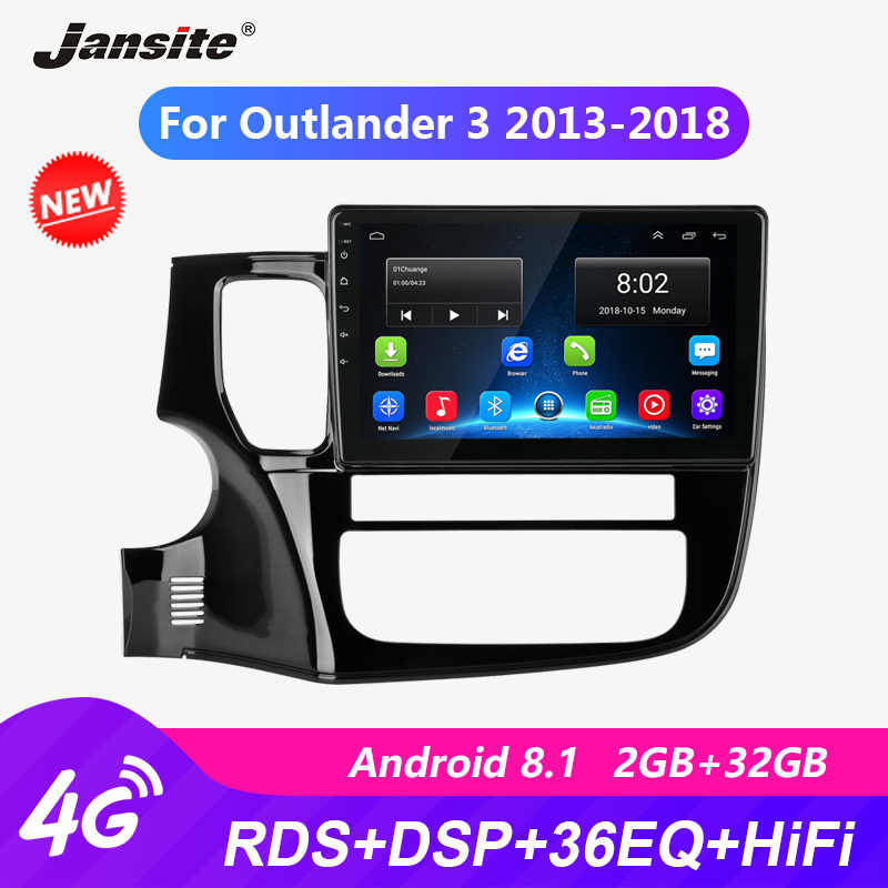 "Jansite 10 ""Auto Radio Voor Mitsubishi Outlander 3 2013-2018 4G Rds Android Gps Bluetooth 2.5D Multimedia video Speler Met Frame"