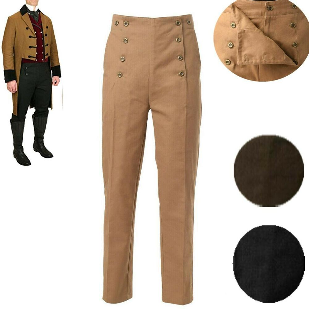 Medieval Pants Men Historical Victorian Retro Halloween Carnival Costumes Trousers Suspenders Overalls(China)