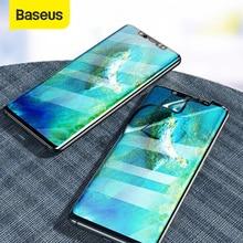 Baseus 2pcs 0.15mm אולטרה דק מסך מגן עבור Huawei Mate 20 פרו רך סרט מלא כיסוי פיצוץ הוכחה מגן סרט