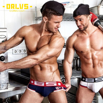 Explosive Models Sexy BS Briefs Mens Low Waist Cotton Solid Color Underwear Hip Personality U Convex Pocket Shorts Male