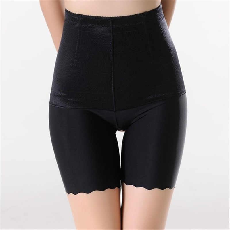 Wysokiej talii kobiet bez szwu bezpieczeństwa krótkie spodnie kontrola brzucha Slim bielizna Plus rozmiar 4XL oddychające spodenki bokserki pod spódnicą