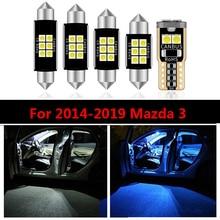 8 PCs/set Auto Accessories Car Interior Lights For Mazda 3 2014 2015 2016 2017 2018 2019 Stylish Led Interior Dome Trunk lights