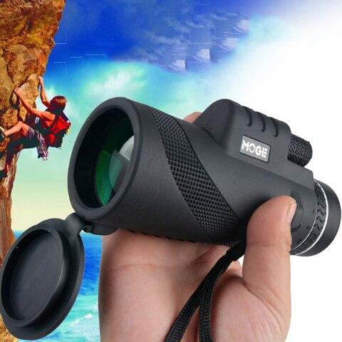 Scope Spotting Night Vision Optics Monocular Foco Duplo Telescópio Moge 40×60 hd Day