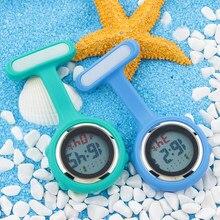 Alk relógio de bolso relógio de bolso fob enfermeira digital lapela broche silicone inofensivo sleef relógio médico enfermeira quartzo dropshopping
