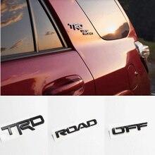 Trd 3d emblema logotipo decalque para toyota fora de estrada 4 corredor tundra rav4 tacoma yaris modificado rotulagem trdoffroad carro adesivos