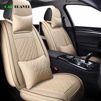 ( Front + Rear ) Luxury Leather car seat cover 4 Season For geely Emgrand EC7 EC7 RV EC8 EX7 SX7 TX4 GC9 GX7 LC car interior