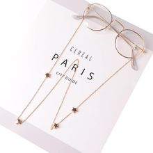Link Chain Metal Star Glasses Chains Silicone Eyeglasses Cord Sunglasses Chain Necklace Cord Holder