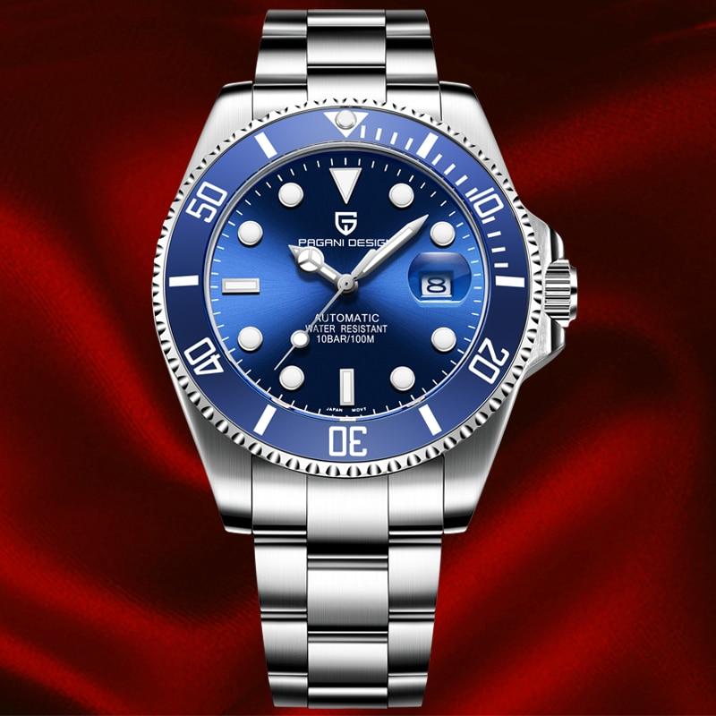 Marca de Luxo Safira à Prova Relógios Masculinos Pagani Design Dwaterproof Água Esportes Mecânico Automático Relógio Rolexable Masculino 2020