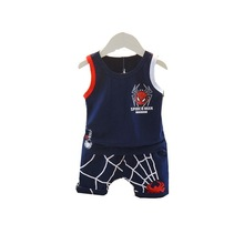 Baby Cartoon Pattern Boy Girl Summer Clothes Kids Infant Bermuda Vest 2pcs / Set Toddler Apparel Kid Casual Tracksuits
