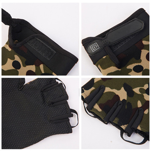 Summer Man Gloves Fishing Tactical Breathable Outdoor Riding Gloves Lady Bicycle Non-slip Gloves Full Finger and Fingless 5