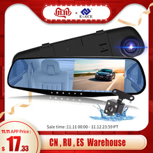 E-ACE DVR Recorder Camera Car-Dvrs Dashcam Rear-View-Mirror Automatic Full-Hd 1080P