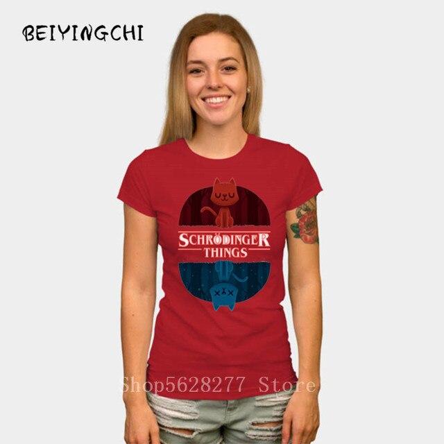 Schrodinger choses Stranger Things MIX T-shirt femme
