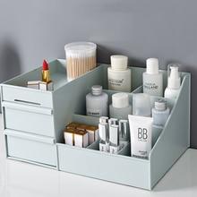 цены Plastic Cosmetic Storage Box Drawer Makeup Organizer Jewelry Nail Polish Makeup Drawer Container Home Office Desktop Storage Box