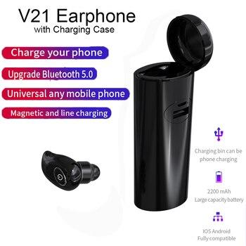 Auricular TWS Mini, inalámbrico por Bluetooth 5,0, auriculares estéreo HD con micrófono y caja de carga para iPhone, xiaomi y huawei
