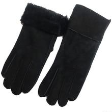 Женские перчатки, новинка, натуральная кожа, перчатки для родителей, зимние шерстяные меховые перчатки, варежки из натуральной овчины, перчатки для девочек, подарок на день рождения