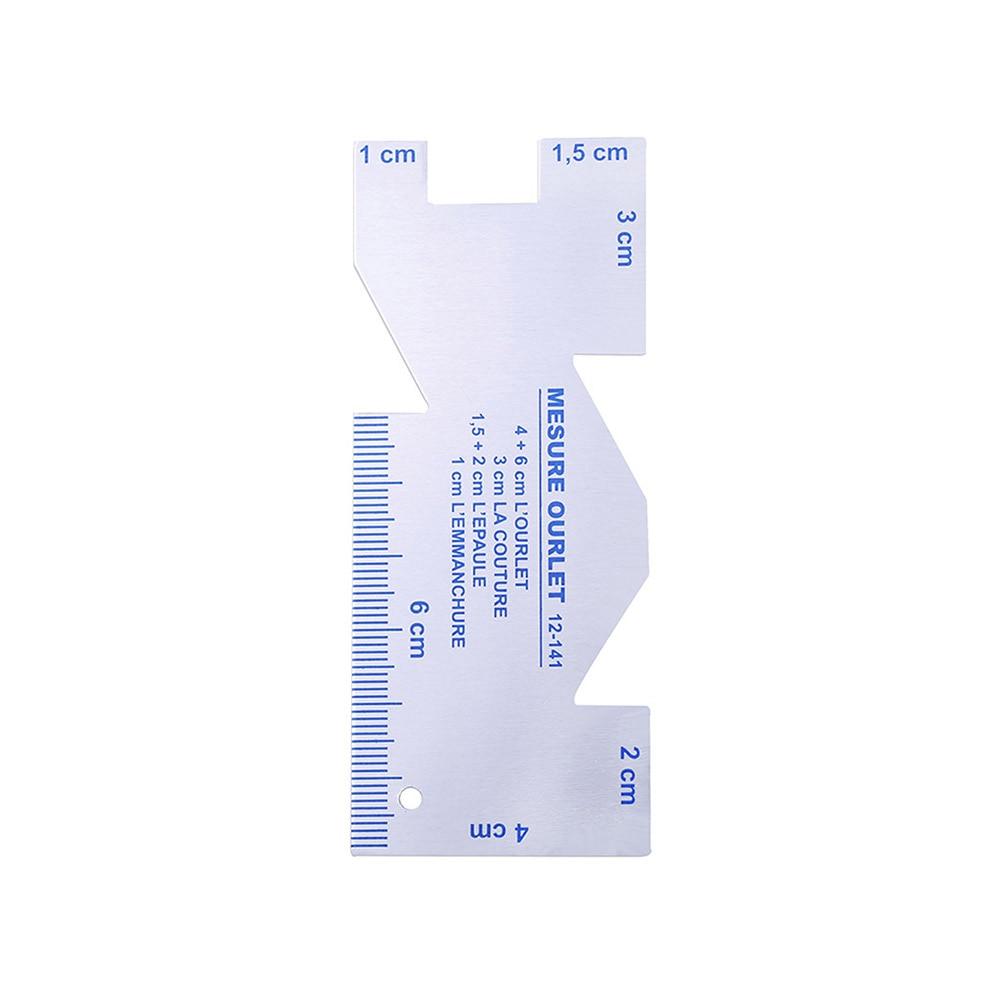 Romirofs Multi-Function Metal Sewing Gauge Ruler Measuring Gauge Quilting Ruler Sewing Tool Accessories for Sewing DIY Crafts
