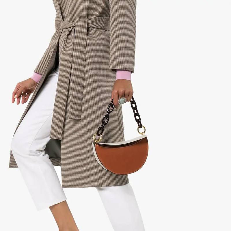 Bags For Women Acrylic Handbag Shoulder Bags Tote Purse PU Leather Simple Pure Color Ladies Messenger Hobo Bag Bolsa Feminina